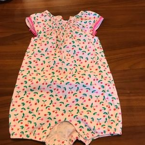 Mini Boden cherry romper